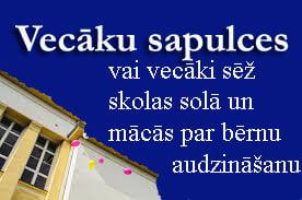 Kaspara Bikšes dalība vecāku sapulcē vai ziņas par Vecāku akadēmijā, kur mācās par bērnu audzināšanu